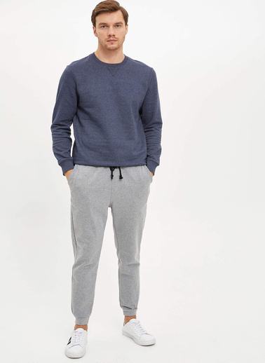 DeFacto Basic Sweatshirt Lacivert